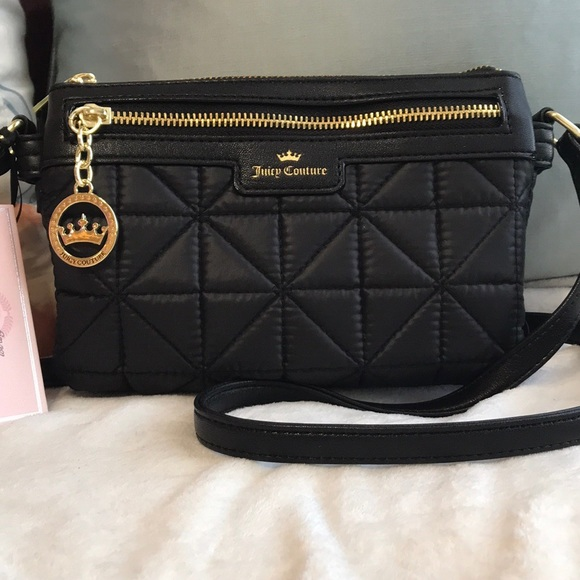 28150b4b91 Juicy Couture Bags | Crown Jeweled Quilted Crossbody Bag | Poshmark